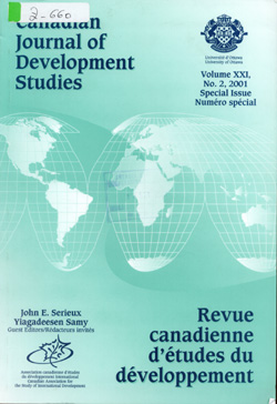 Cubierta de Canadian journal of development studies